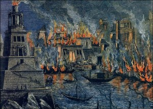 The Burning of the Library of Alexandria, by Hermann Goll (1876)
