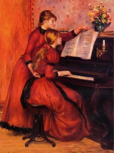 The Piano Lesson by Pierre-Auguste Renoir