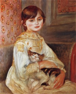 Julie Manet with Cat, by Pierre-Auguste Renoir (1887)