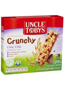 'What long-remembered bonds are sealed / in Uncle Toby's muesli bars.'