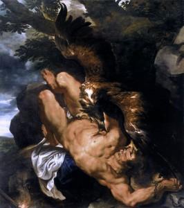 Prometheus Bound, by Peter Paul Rubens, 1618.