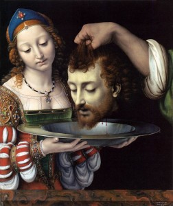Salome with the head of St. John the Baptist, Andrea Solario, 1506-1507.