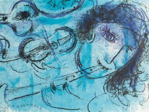 The Flute Player by Marc Chagall