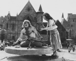 Still from the 1923 film, The Hunchback of Notre Dame: '...My mental portrait fattened / into plump and Quasimodian life...'