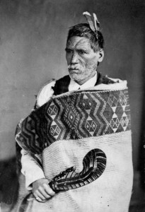Photograph of Rewi Manga Maniapoto taken in June 1879: 'Let sandflies eat your Treaty's print! / as what's-his-name, old man in the photo, / once counselled for patience...'