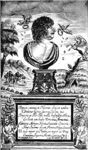 "Title page of ""Hesperides"" by Robert Herrick (1648)"